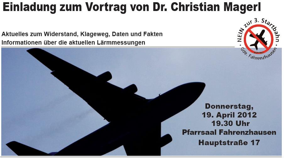 Einladung zum Vortrag von Christian Magerl